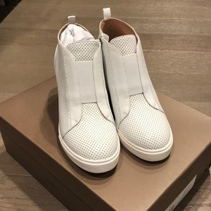 Paolo Felicia white perforated leather sneaker